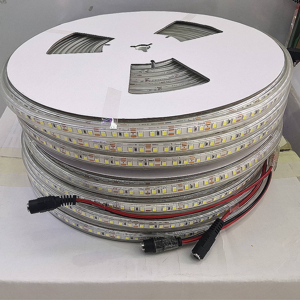 Tira CONDUZIDA Luz 24V IP67 Fita À Prova D Água 2835 LEVOU Luz Corda Uso 24V Adaptador De Energia Branco Branco Fresco branco quente 1m 5m 10m 20m 100