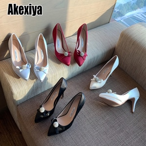 Summer New Women Shoes Pointed Toe Rhinestone Diamante High Heels All-match temperament Ladies Shoes blue Black p891