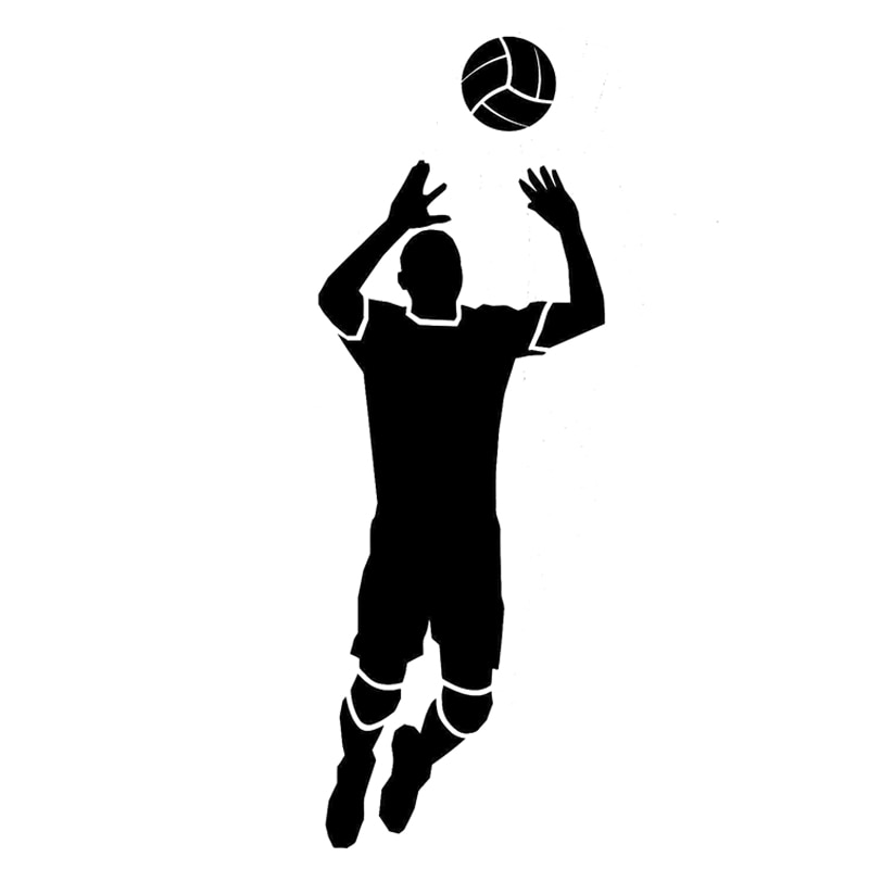 16.4CM*5.8CM Fashion Volleyball Sport Black/White Decal Vinyl Car Sticker Silhouette Decor for Infiniti QX60 QX80 Opel Corsa