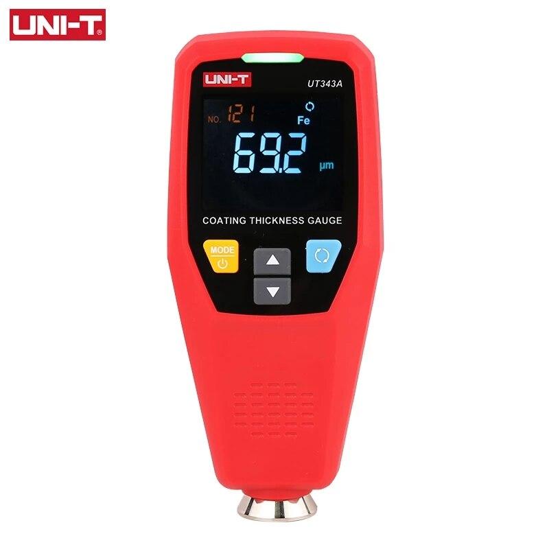 UNI-T UT343A مرآة سيارة رقمية طلاء سمك قياس فيلم الطلاء تستر ورنيش متر أدوات السيارات قياس FE/NFE