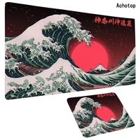 80x30cm xl lockedge large gaming mouse pad computer gamer keyboard mouse mat japan great waves art desk mousepad for pc desk pad