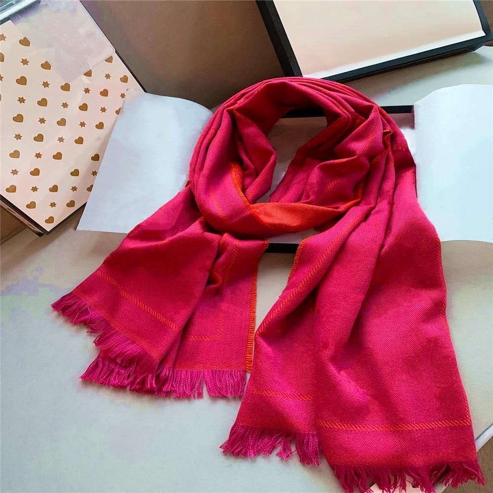 Wool scarf 2020 new winter plus velvet ladies scarf shop hot sale thick warm fashion accessories shawl G
