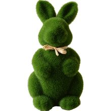 2020 New Lovely Handmade Moss Rabbit Artificial Turf Grass Easter Bunny Home Office Decor