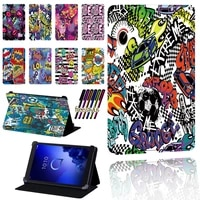 for alcatel 1t 7 10 3t 8 10 a3 10 tablet graffiti art pattern scratch resistant lightweight protective case cover