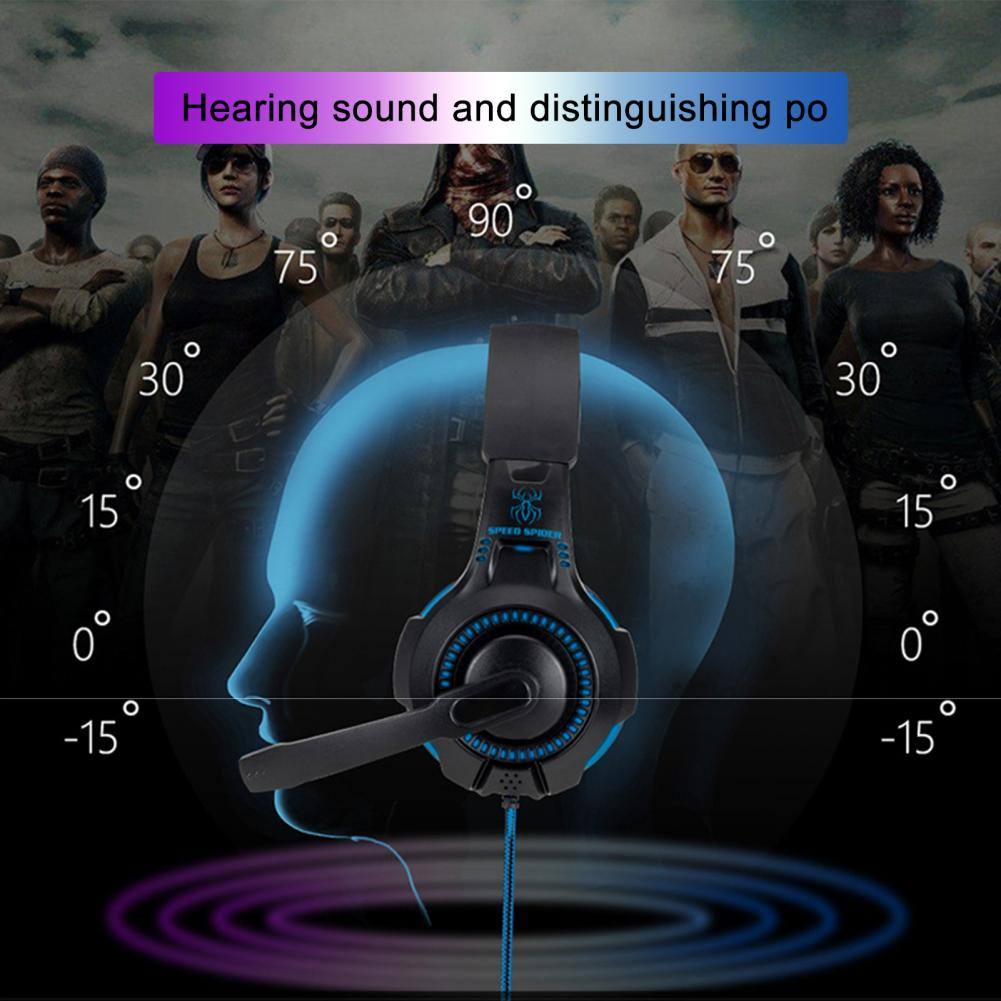 Light Wired Retractable Game Headphone Stereo Bass Headset with Mic for PS4 enlarge