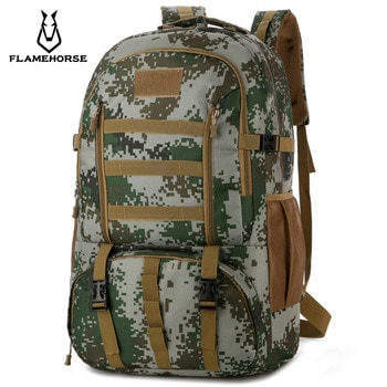 Tactical Bag 60L Large Capacity Outdoor Mountaineering Backpack Travel Big Knapsack Field Bag