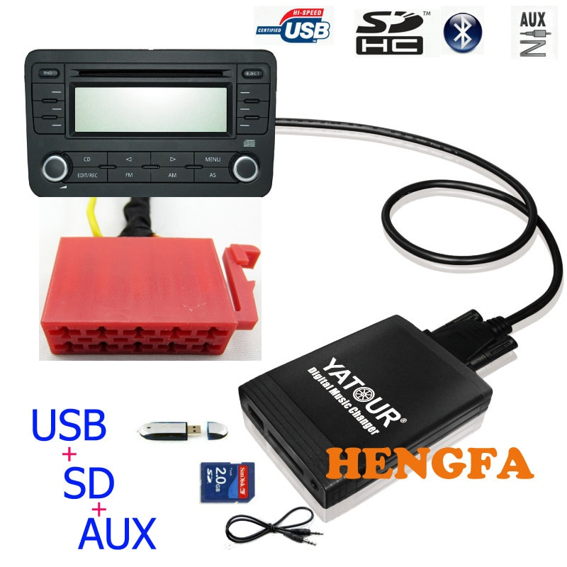 Автомобильный цифровой CD музыкальный смены Yatour YT-M06, USB MP3 AUX адаптер для VW Gamma 4 головное устройство 10-Pin yt-m06