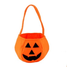 Halloween Gift Bags Pumpkin Candy Gift Bag Stereoscopic Hand Bag Halloween Decor Holiday Home Party