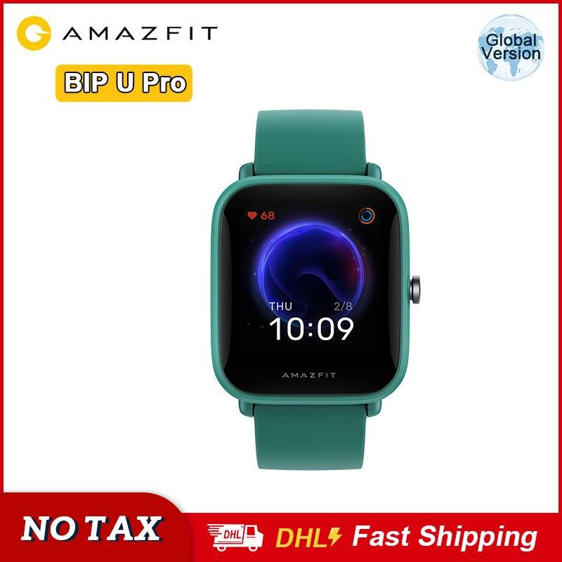 Rastreador de Freqüência Amazfit Smartver Gps Glonass 5atm Relógio Inteligente Cardíaca Monitor Sono Suporte Controle Voz Bip u Pro