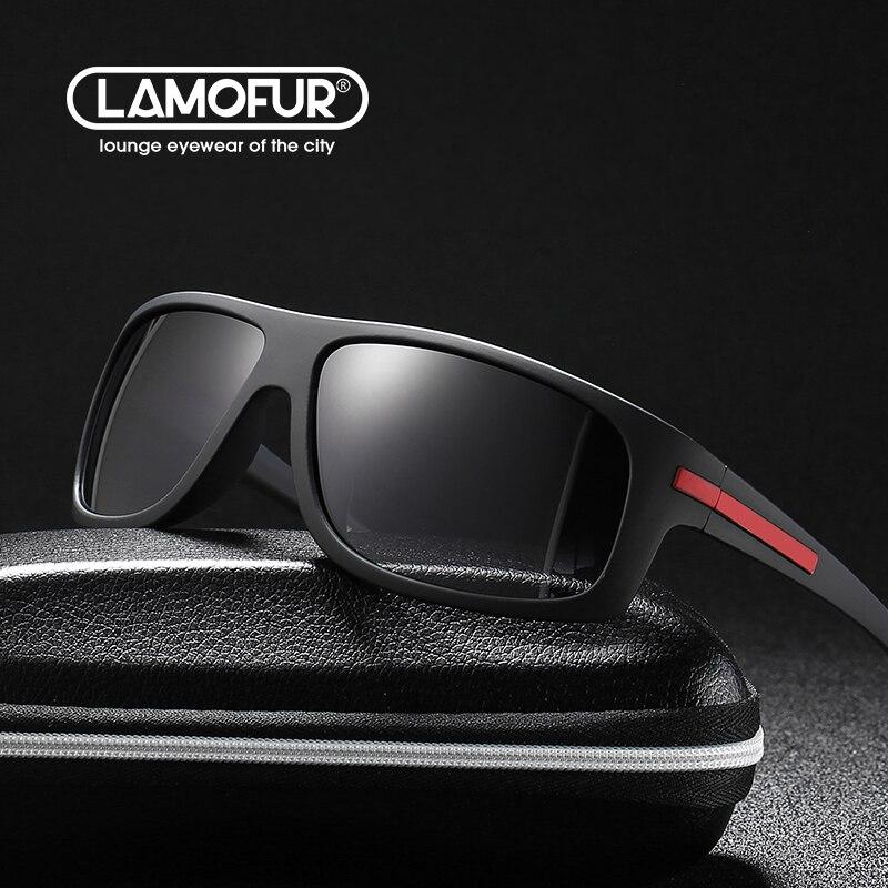 Солнцезащитные очки LAMOFUR, винтажные поляризационные очки в прямоугольной оправе, с защитой от ультрафиолета UV400, модель 2021, 2915 | Аксессуары для одежды | АлиЭкспресс