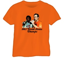 1983 Baltimore World Series Ripken Murray T Shirt Loose Size Top Ajax Tee Shirt