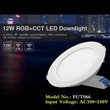 Spot lumineux LED circulaire 12W RGB + CCT AC110, 220V, wi-fi, 2.4GHz, intensité réglable à distance, lampe de plafond intelligente pour lintérieur, 2700 ~ 6500K