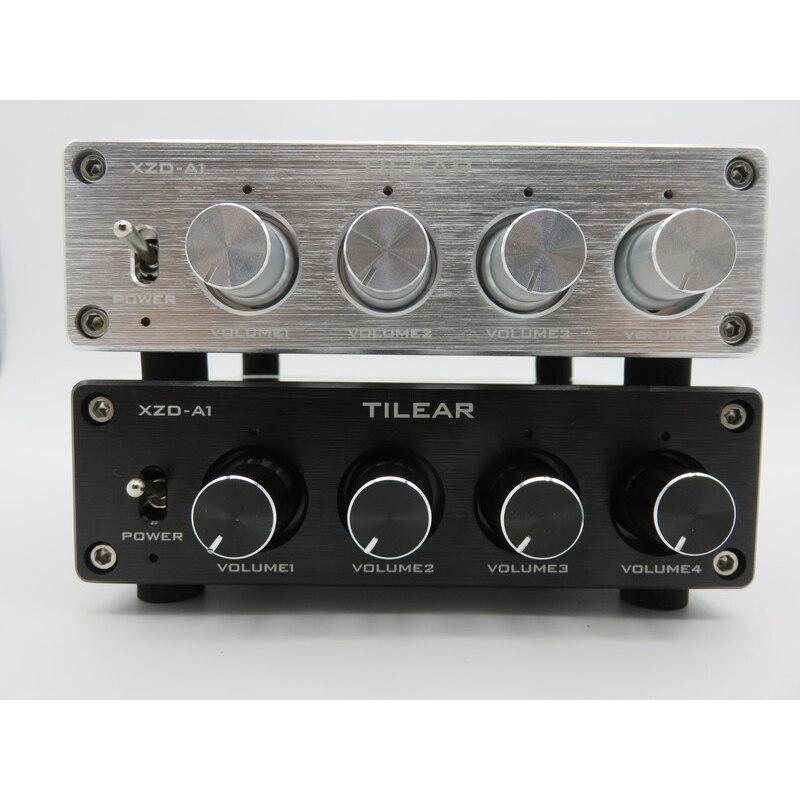 1 eingang 4 Ausgang RCA Audio Distributor Verstärker Verlustfreie Audio Splitter NE5532 Op Amp Mit Tone Volume Control Verstärker