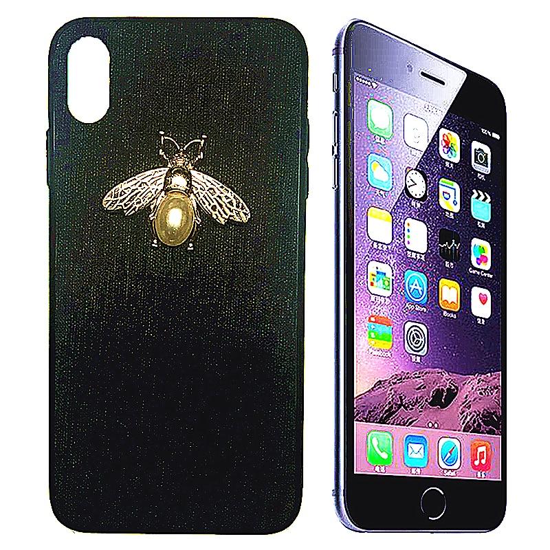 CHAOAI IPhone casos de lujo perla BeeLogo para IPhone 6 6s 7 7 8plus 7 7 6plus X xs Xr Xsmax 11 11Pro 11ProMax cubierta de protección