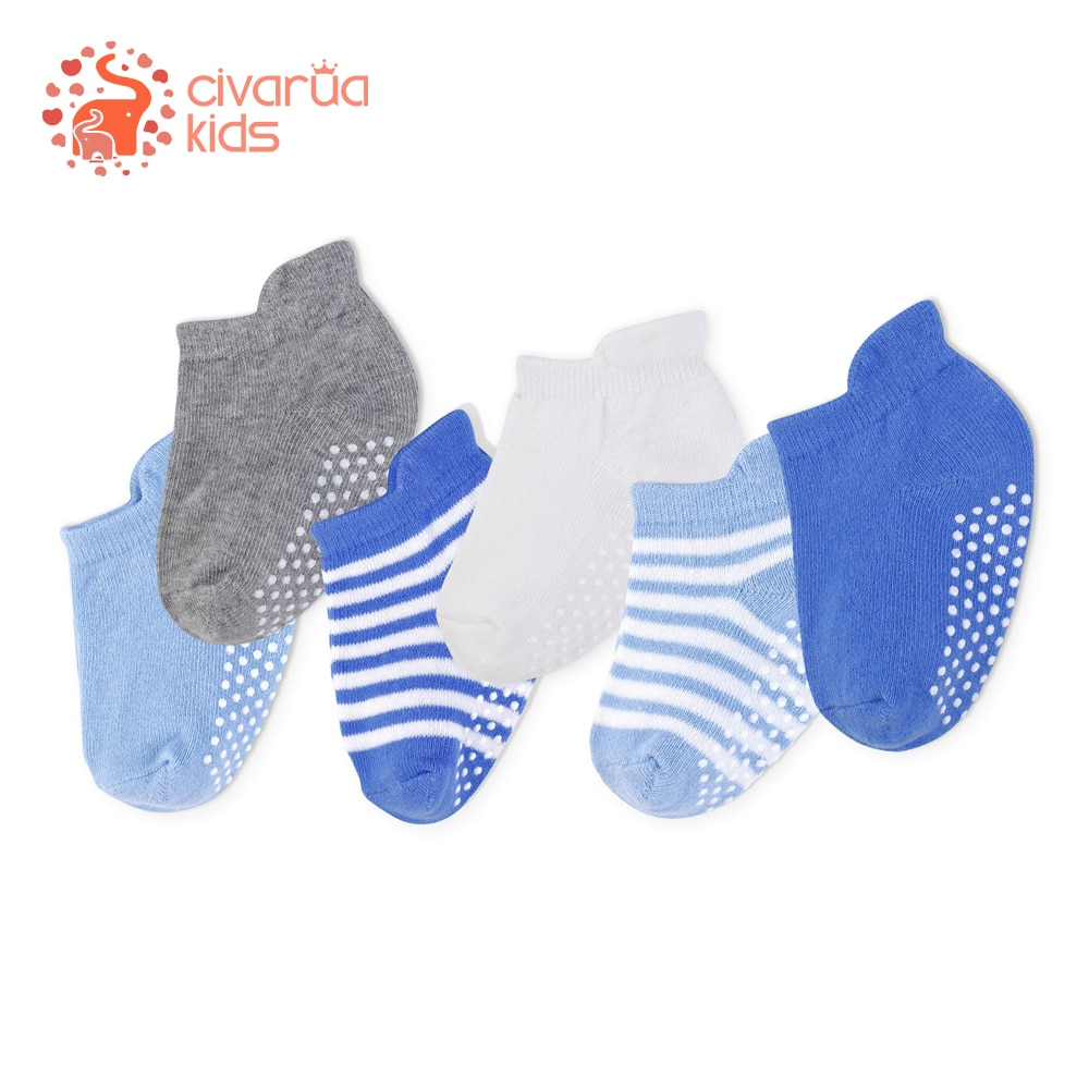 aliexpress.com - 6Pairs/Lot Baby Socks 100% Organic Cotton Non Slip SockS for Boys & Girls Anti Skid Baby Sock for Baby  6-36 Month