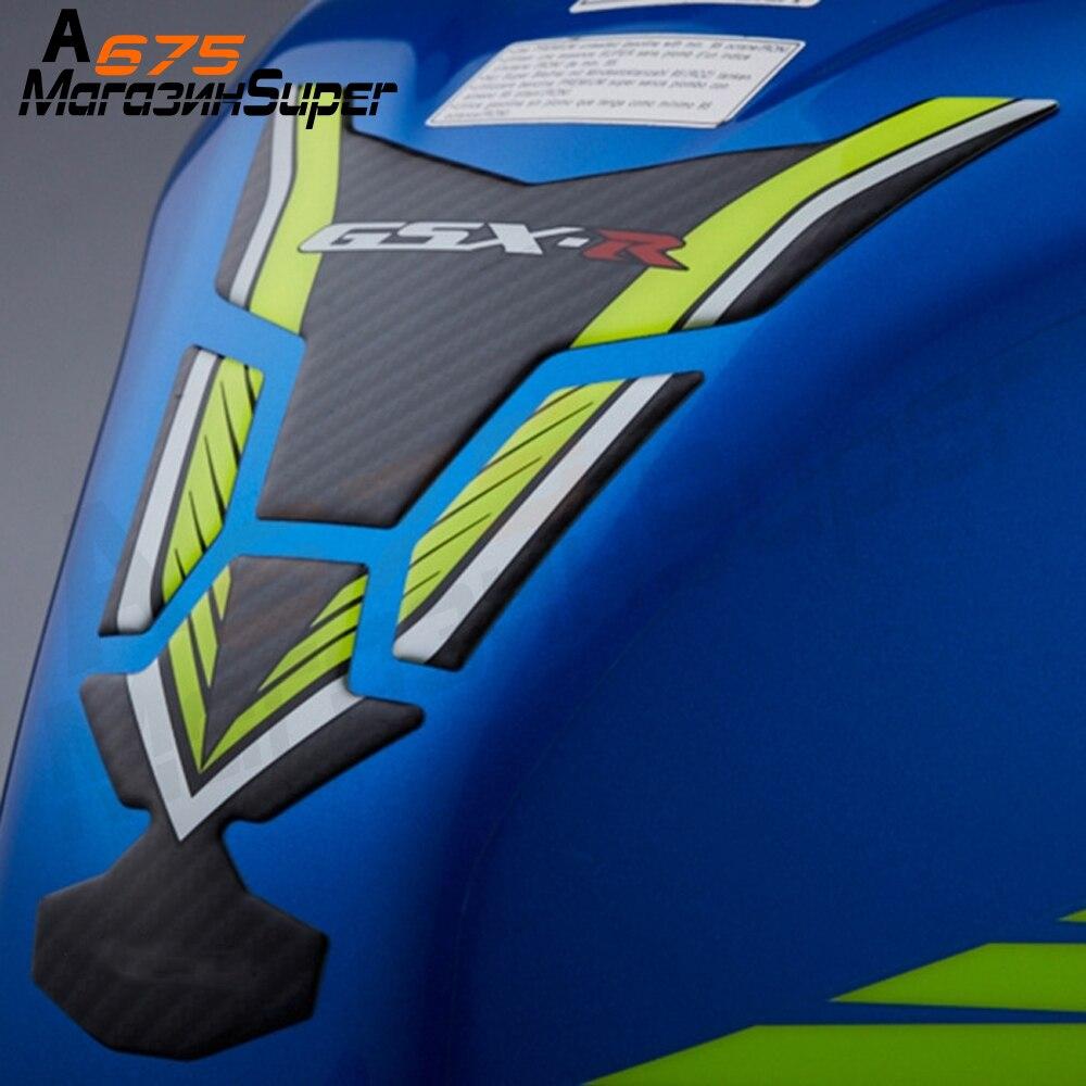 3D Carbon Fiber Tank Fish Bone Decoration Stickers Fit For Suzuki GSXR 600 750 1000 K1 K3 K4 K5 K6 K7 K8 K9 K11 L1 GSXR 3 Colors