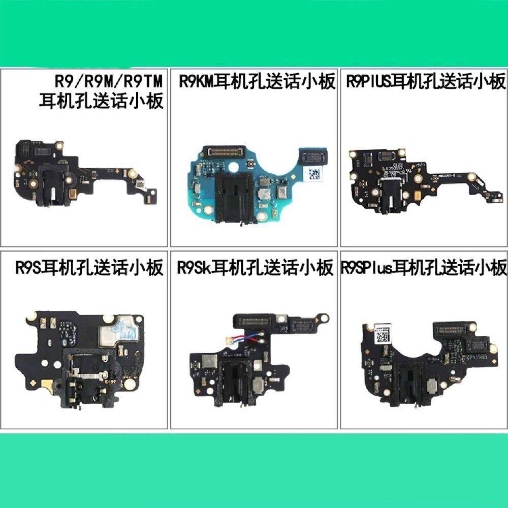 OPPO R9 R9PLUS R9S R9KM R9SK puerto de carga USB Cable flexible enchufe de auricular con micrófono conector PCB placa Smartphone pieza de reparación Original