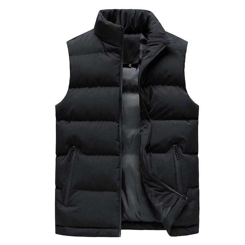 Мужская куртка, жилет без рукавов, осенние и зимние куртки, теплые пуховые жилеты, повседневные пальто, мужской охотничий мягкий жилет, мужс...