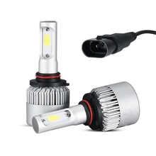 1 пара Cree светодиодный фары комплект S2 9005 светодиодный 6000K ближнего и дальнего света Противотуманные лампы HID для автомобилей SUV ATV Ван пикап ...