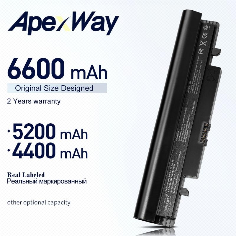 ApexWay laptop Battery For Samsung N100 N143 N145P N148 N150 N250 N260 AA-PB2VC3B AA-PB2VC3W AA-PB2VC6B  AA-PL2VC6B  AA-PL2VC6W фото