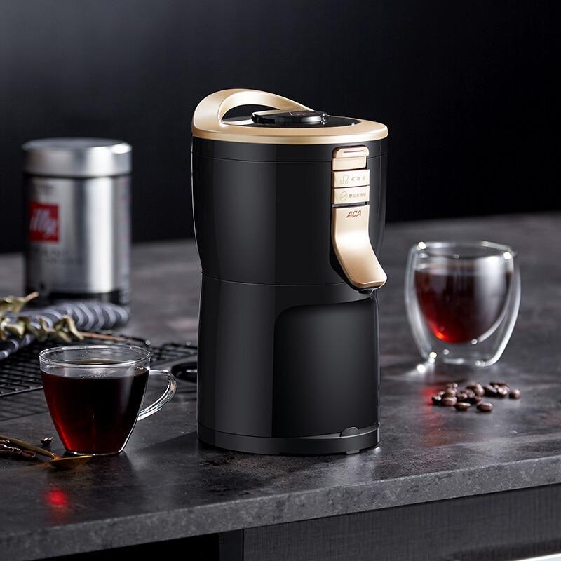 Máquina de café eléctrica, molinillo de granos, batidoras para hogar, cocina, oficina, acero inoxidable, 220 V, cafetera de uso doméstico