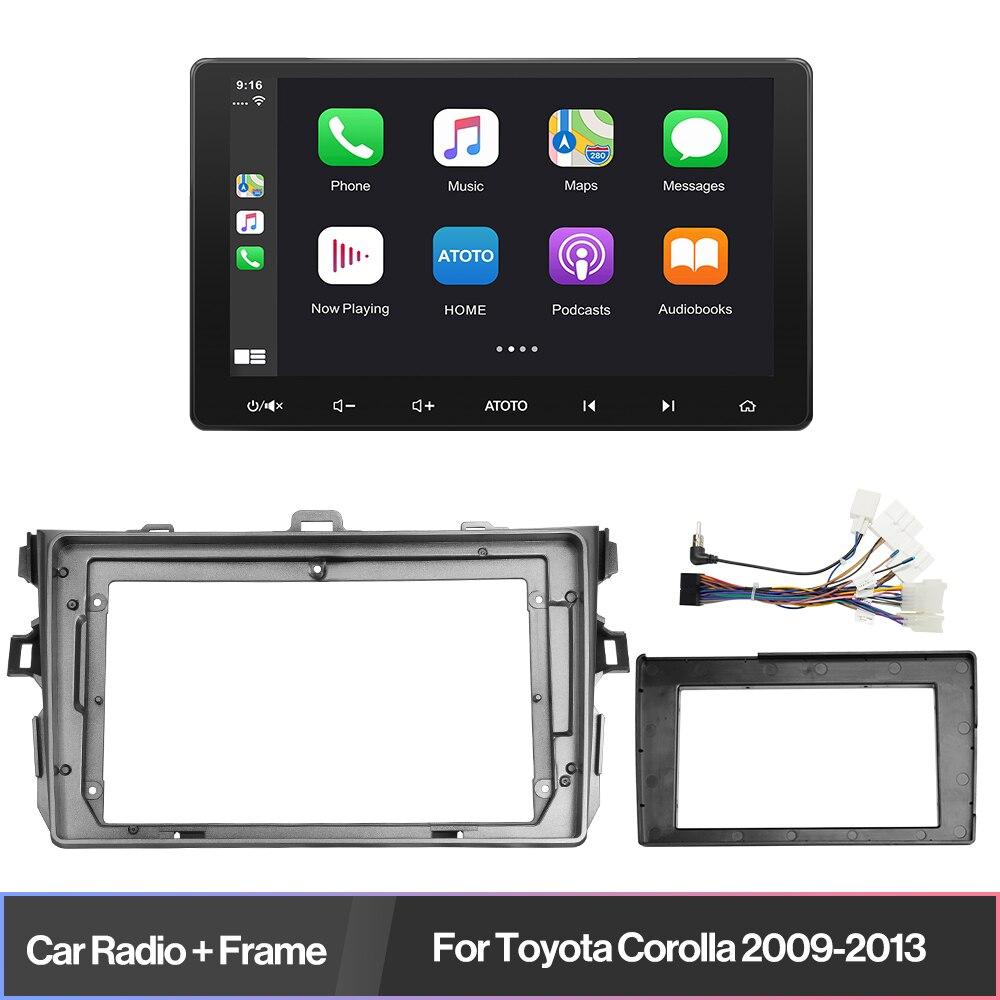2 Din Автомобильный стереопроигрыватель, цифровой мультимедийный плеер с Bluetooth, автомобильный радиоприемник для Toyota Corolla 2009-2013, mp3-видеоплеер, ...
