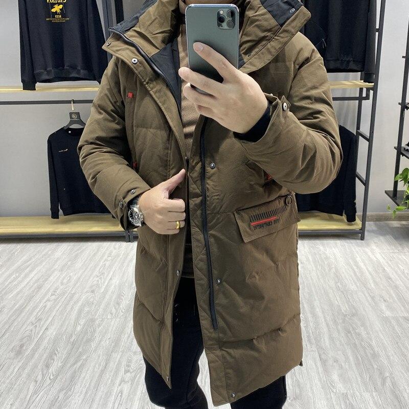 2021 Winter Men's Duck Down Long Coat & Jacket Male Waterproof Windbreaker Parkas Clothes Plus Big Sized Casual Outer Wear XXXL