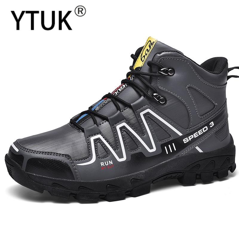 YTUK zapatos de senderismo de invierno para hombre, Botas de senderismo impermeables, zapatillas de Trekking de felpa para exterior, zapatillas deportivas de montaña para escalada de gran tamaño