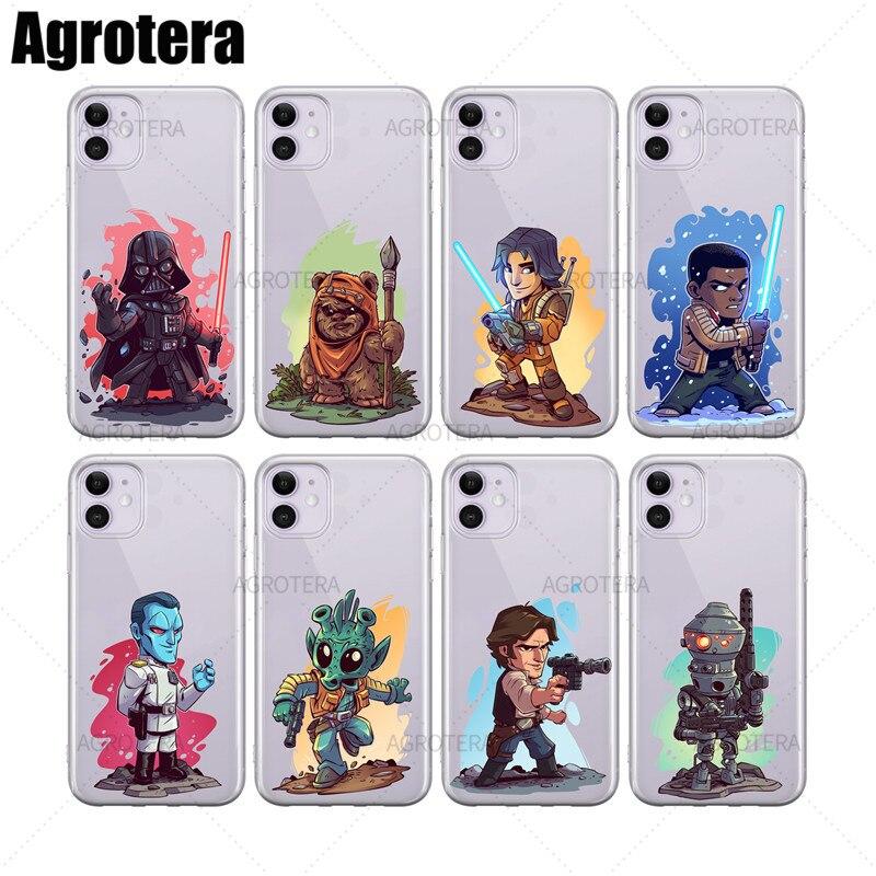 Agrotera telefone casos ezra bridger grande almirante thrawn greedo claro tpu capa para iphone 6s 7 8 plus x xs xr 11 pro max