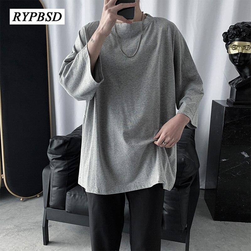 Camiseta hípster Hip Hop Harajuku para hombre, camisetas negras y grises de media manga para hombre, camiseta Punk holgada de manga corta para pareja, camiseta para hombre 2XL