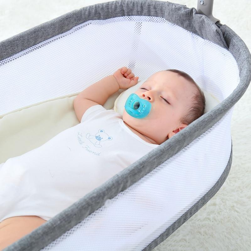 New Home Baby Electric Cradle Comfort Rocking Chair Multifunctional Intelligent Sleeping Electric Cradle Crib Cradle Baby Shaker enlarge