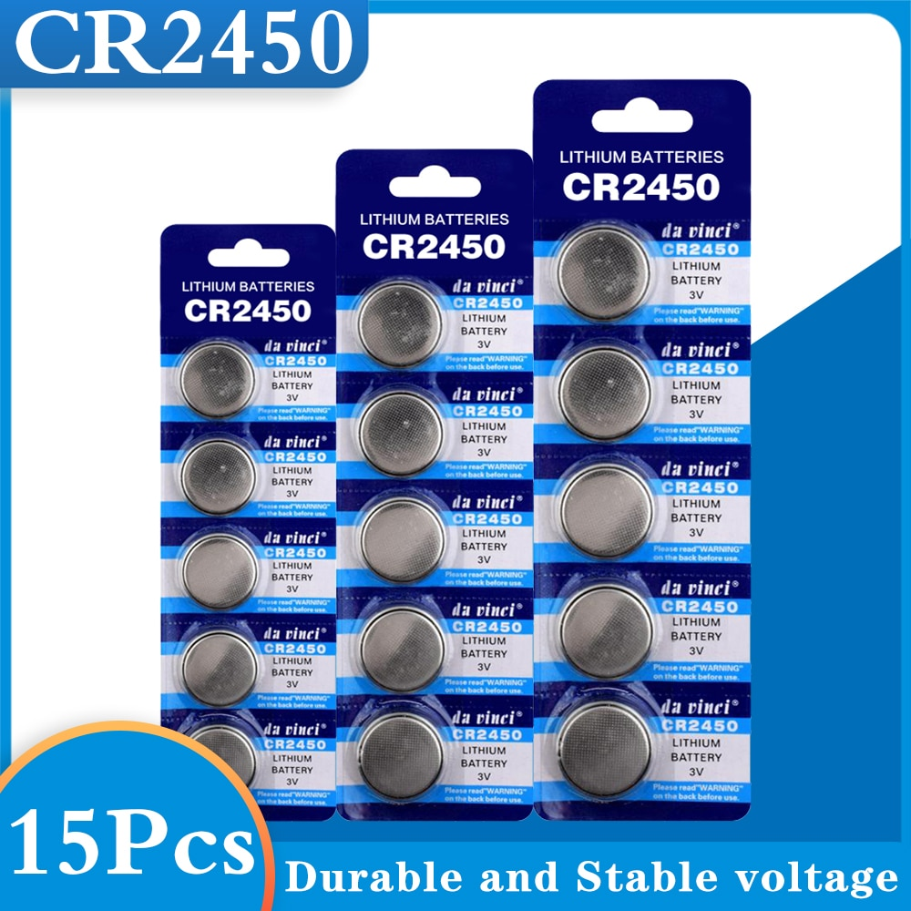 15PCS CR2450 Button Batteries KCR2450 5029LC LM2450 Cell Coin Lithium Battery 3V CR 2450 For Watch Electronic Toy Remote
