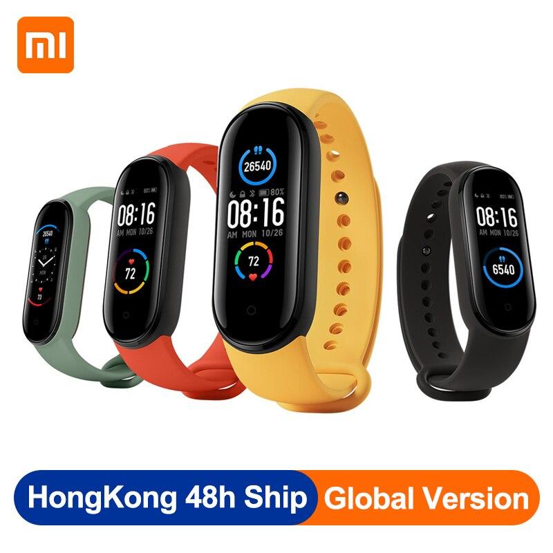 Original Xiaomi Mi Band 5 1.1 Inch AMOLED Wristband Customized Watch Face 11 Sport Modes Tracker Smart Watch Global Version