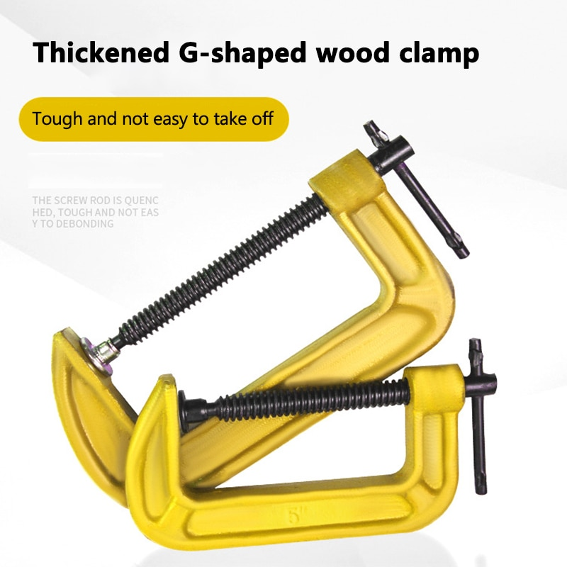 1-12 Inch G-type Woodworking Clamp DIY Carpentry Gadgets Heavy Duty Tools MJJ88