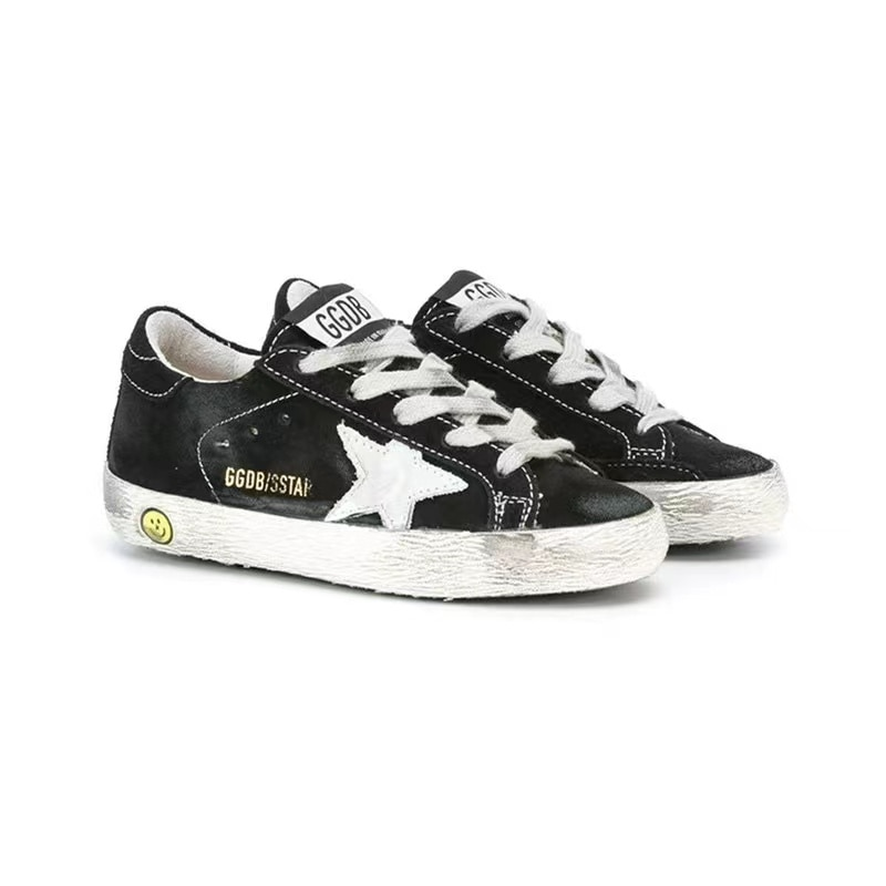 Spring New Parent-Child  Products Black Ox Velvet Children Retro Old Small Dirty Boys/ Girls Casual Kids Board Shoes QZ11 enlarge