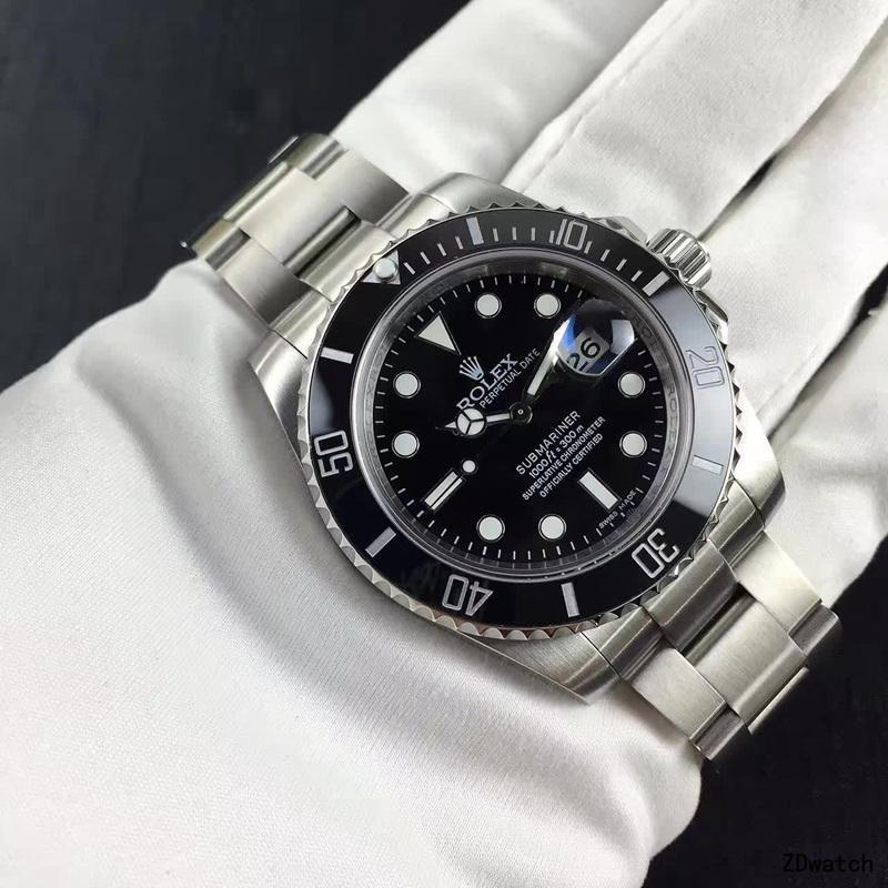 rolex- Luxury New Men Automatic Mechanical Watches Drive Ceramic Bezel Crystal Sapphire Sport AAA Wa