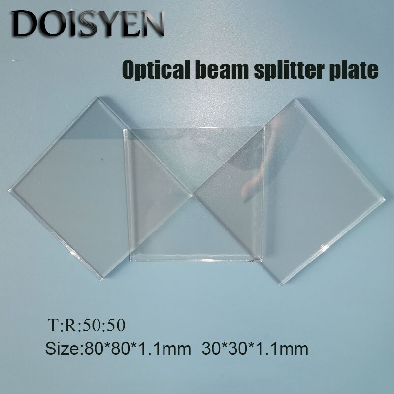 50T/50R placas viga divisor 80*80*1,1mm 30*30*1,1mm Beamsplitter compensación placas óptica láser lente para instrumentos láser