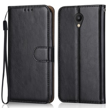 Luxury Leather Case for On Meizu M5S Wallet Stand Flip Case Phone Bag with Strap