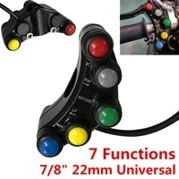 78 universal motorcycle bike handlebar grip horn turn signal switch control abs 7 button 22 mm atvs scooters motorcycle switch