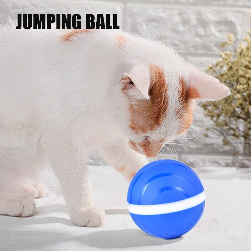 ¡Superventas de 2020! Juguetes para gatos y perros de plástico con bola malvada que brilla intensamente, juguete eléctrico con bola de rodillo resistente al agua vj-drop