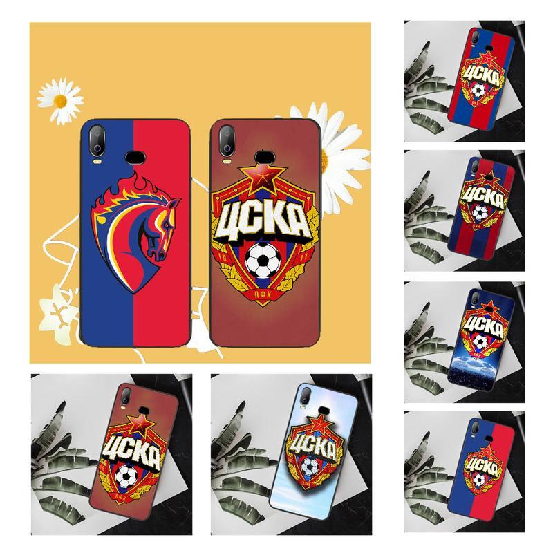 PENGHUWAN CSKA de Moscú de silicona suave funda de teléfono TPU para Samsung A10 A20 A30 A40 A50 A70 A71 A51 A6 A8 2018