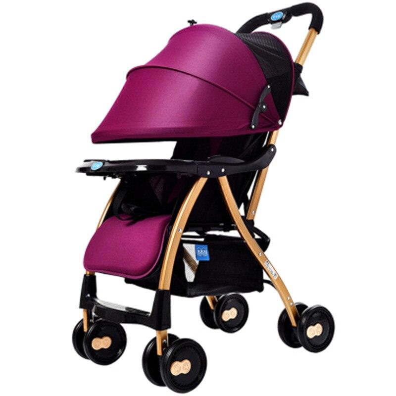 Cochecito de bebé ligero, plegable, puede sentarse, portátil, paraguas para niños cochecito para bebé