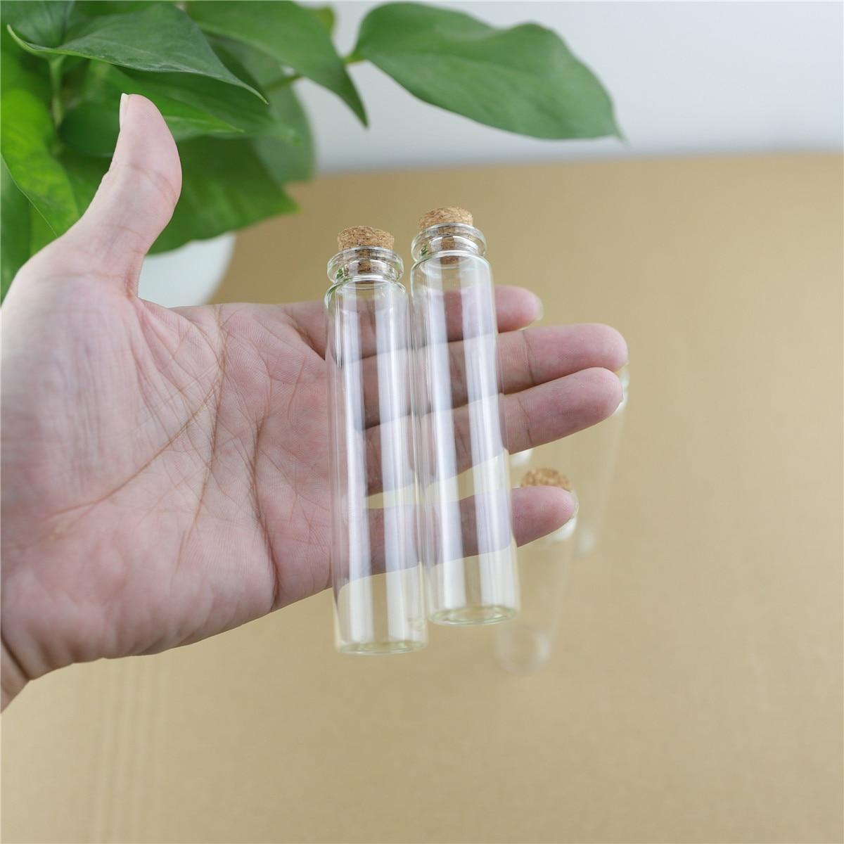 50 قطعة/الوحدة 22*100 مللي متر 25 مللي تخزين زجاج زجاجات مع الفلين سدادة الحرف صغيرة خبأ الجرار الحاويات الزجاج جرة البسيطة زجاجة هدية