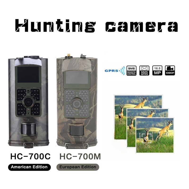 Review 16MP Wildlife Trail Camera Photo Trap Infrared Hunting Cameras HC700M Wildlife Wireless Surveillance Tracking Cams