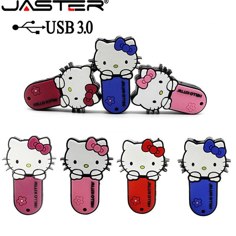 Unidad flash usb JASTER 3,0 hello kitty, memoria usb 3,0 de 4gb, 8gb, 16gb, 32gb y 64gb