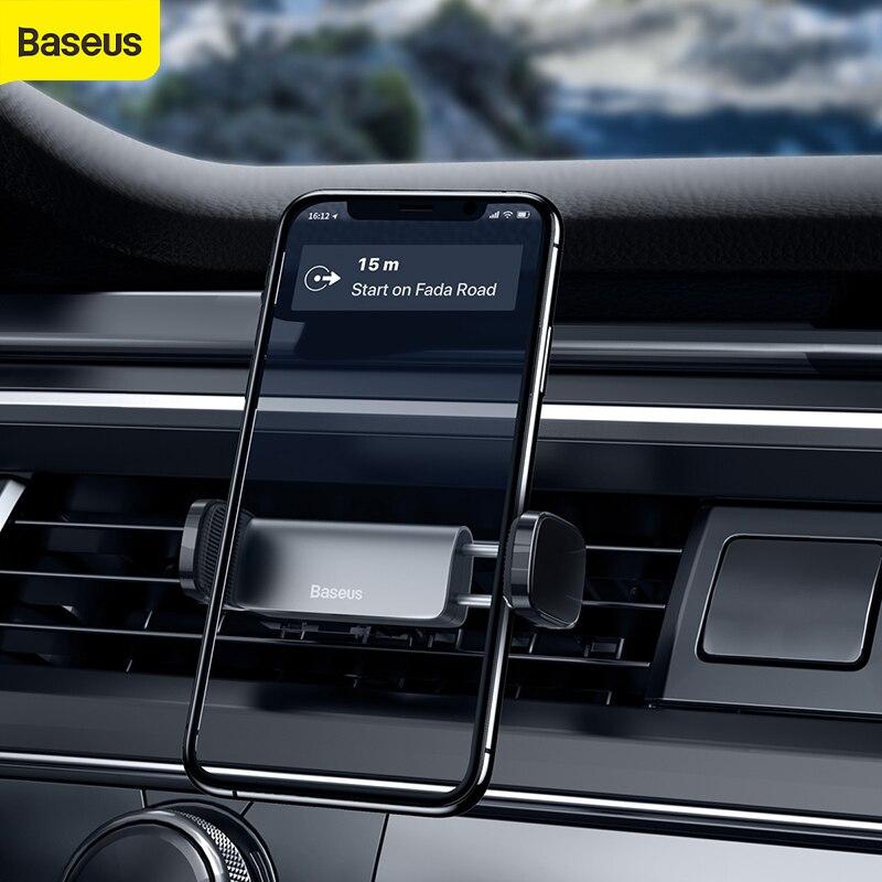 Автомобильный держатель для телефона Baseus, автомобильный держатель с воздушным отверстием для 4,7-6,5 дюймов, автомобильный держатель для моби...