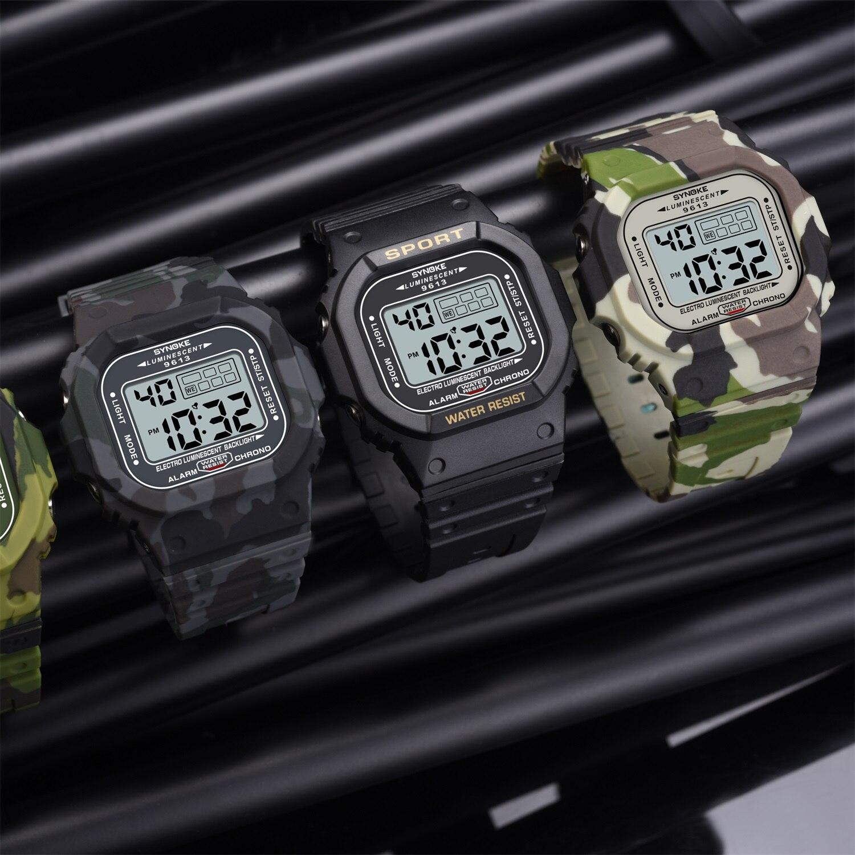 SYNOKE classique hommes montre numérique étanche sport montre militaire réveil montre-bracelet chronographe répéteur Relgio pour hommes