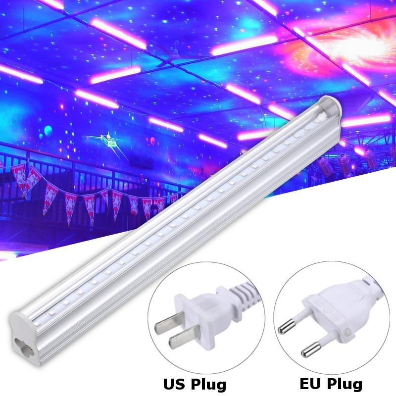 30cm Ultraviolet UV Light Bar Blacklight LED Strip Lights Lighting Party Club Halloween Home Decor DJ Equipment EU/US Plug