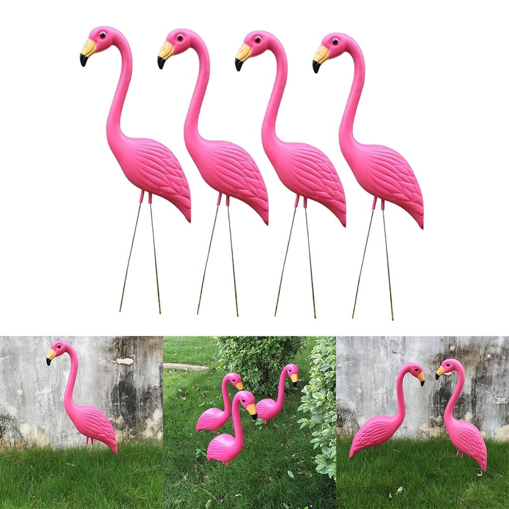 4 قطعة حية كبيرة الوردي فلامنغو حديقة ديكور الحديقة الفن زخرفة المنزل Crafts بها بنفسك الحرف