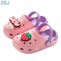 summer kids girls boys baby hole shoes children indoor garden shoes non slip beach sandals slippers shoes 2 8ye